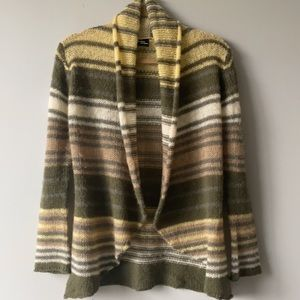 Wooden Ships Knit Striped Open Front Cardi…